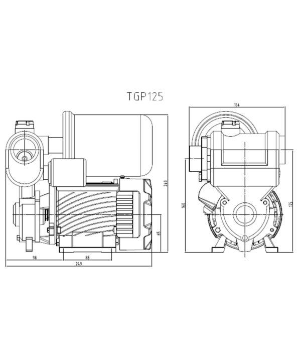 Մինի պոմպակայան TGP125C-Z Pumpman