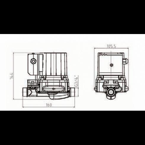 Baqi nasos , Ճնշումային պոմպ GRS12/9-Z Pumpman