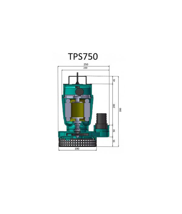 Դրենաժային պոմպ TPS750 Pumpman