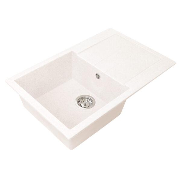 Խոհանոցային լվացարան GS-25 սպիտակ Gran-Stone