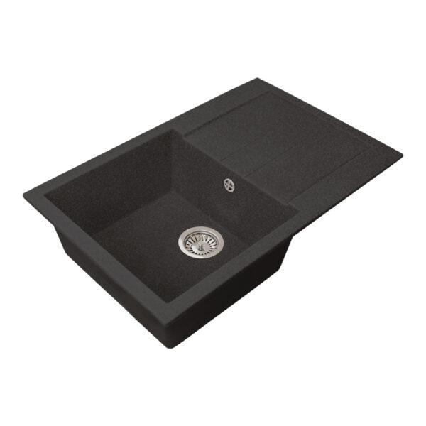 Խոհանոցային լվացարան GS-25 սև Gran-Stone