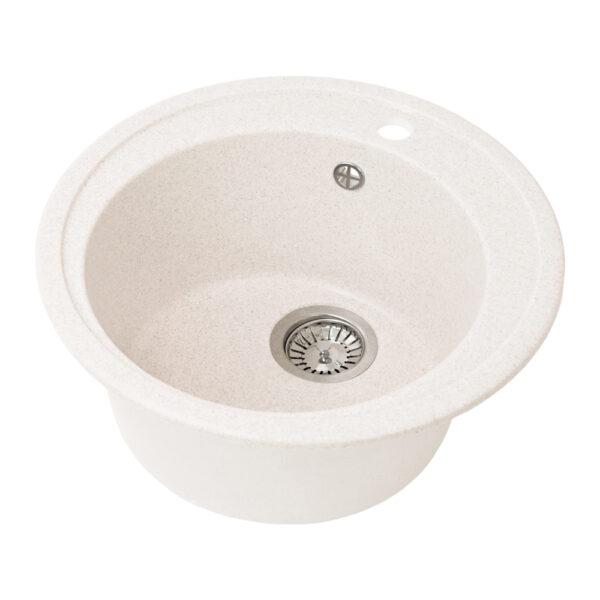 Խոհանոցային լվացարան GS-02 սպիտակ Gran-Stone