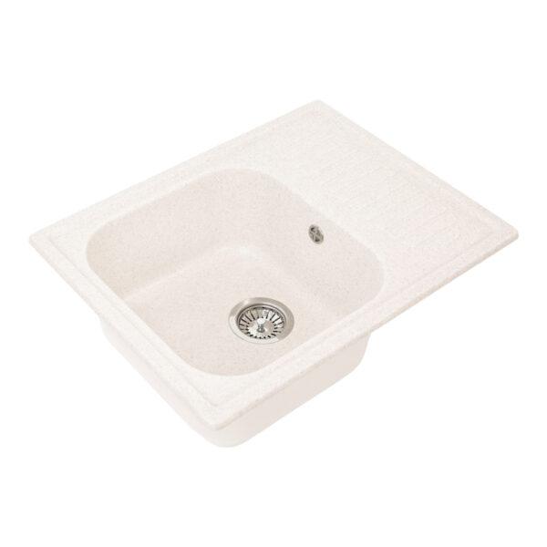Խոհանոցային լվացարան GS-13 սպիտակ Gran-Stone , Xohanoci moyka