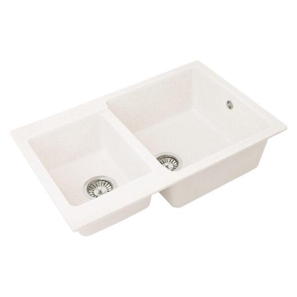 Խոհանոցային լվացարան GS-76K սպիտակ Gran-Stone